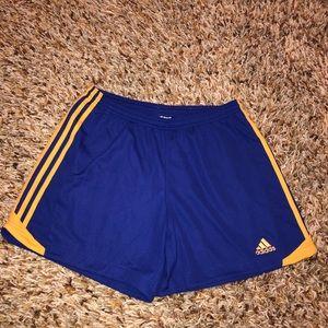 Adidas - purple/blue & orange shorts size Large